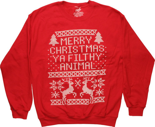 Home Alone Merry Christmas Animal Sweatshirt