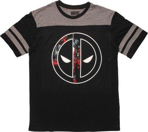 Deadpool Stance In Logo Jersey Shirt