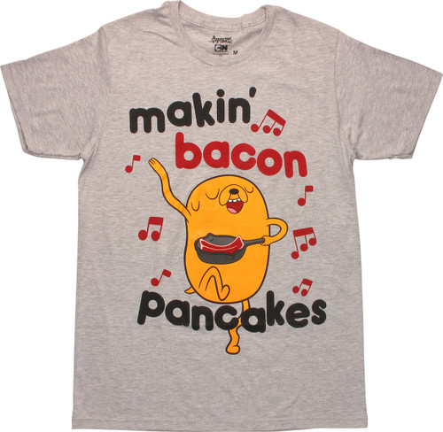 Adventure Time Jake Makin Bacon Pancakes T-Shirt