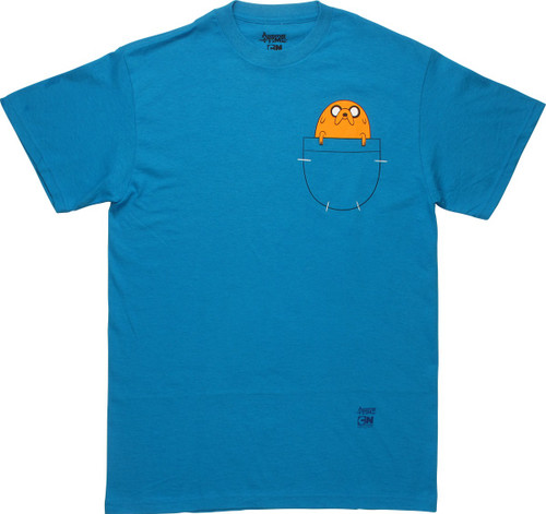 Adventure Time Jake In Front Pocket T-Shirt