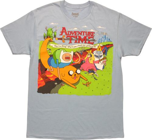 Adventure Time Ice King Stealing Garbage T-Shirt