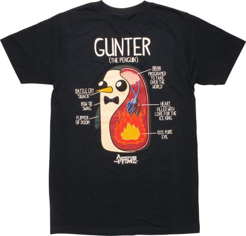 Adventure Time Gunter Penguin Schematic T-Shirt