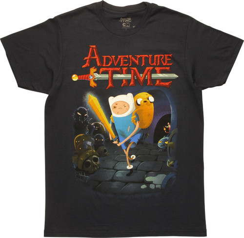 Adventure Time Finn And Jake In Battle T-Shirt