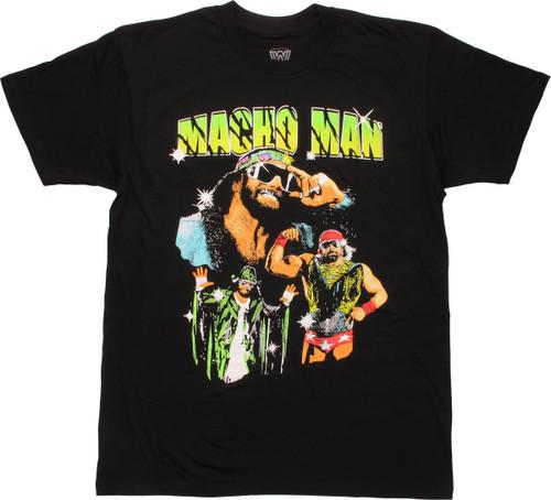 WWE Macho Man Poses Under Name T-Shirt
