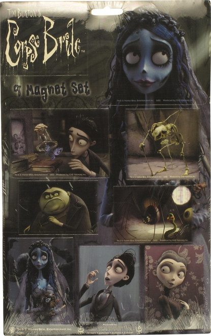 Corpse Bride with Spider Magnet Set