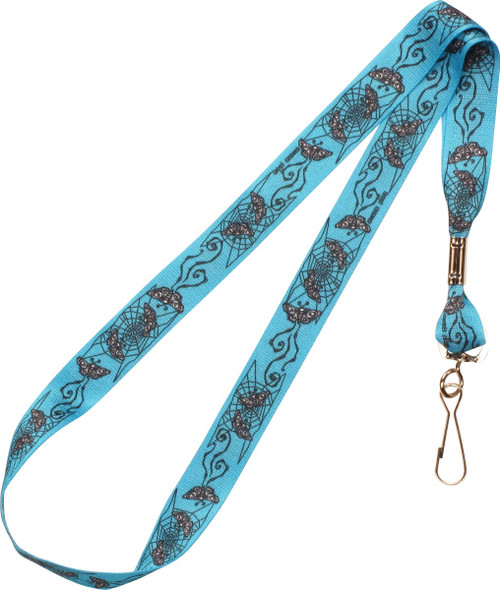 Corpse Bride Web And Butterflies Lanyard