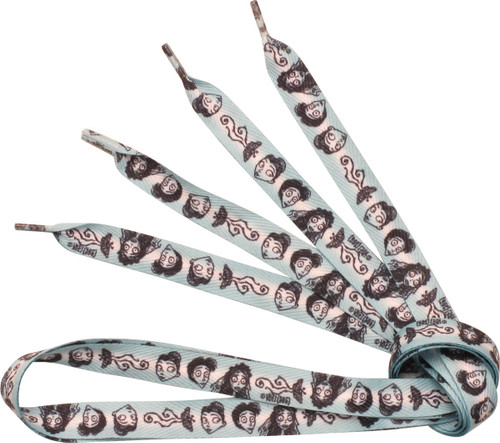 Corpse Bride Faces All Over Print Shoe Laces