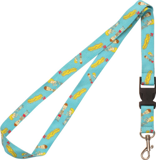 Beavis and Butthead Both with Name Lanyard