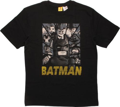 Batman Lego Villain Faces T-Shirt
