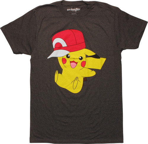 Pokemon Pikachu Wearing Hat T-Shirt