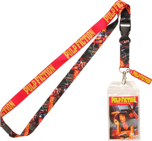 Pulp Fiction Name Scenes With Charm Lanyard