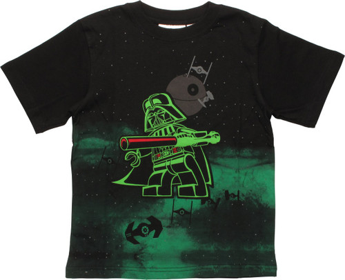 Star Wars Lego Vader Space Glow Juvenile T-Shirt
