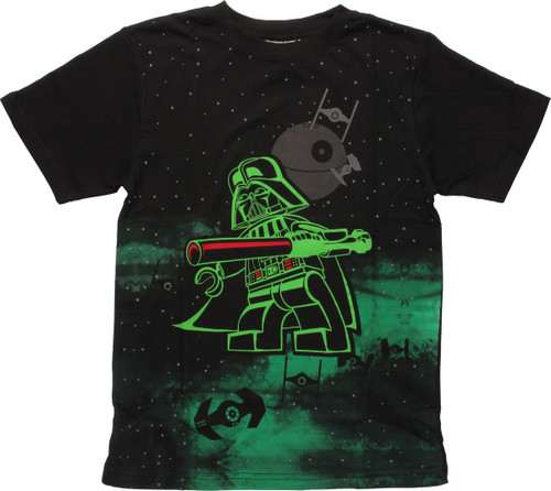 Star Wars Lego Vader Space Glow Youth T-Shirt