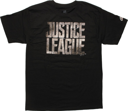 Justice League Weathered Movie Logo T-Shirt
