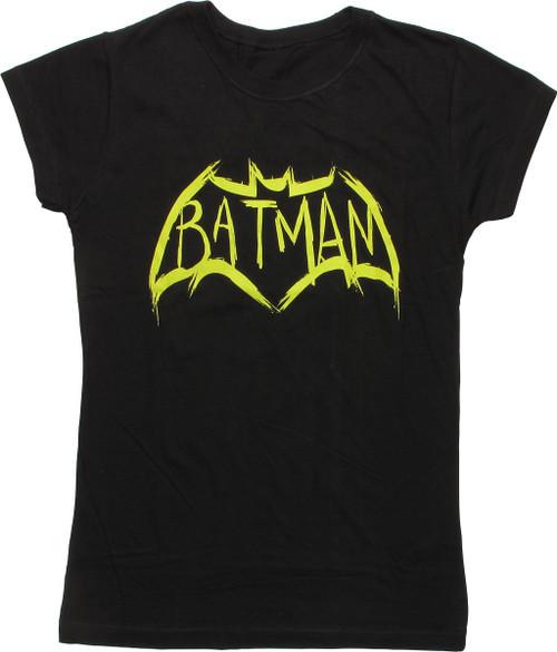 Batman v Superman Bat Sketch Logo Juniors T-Shirt