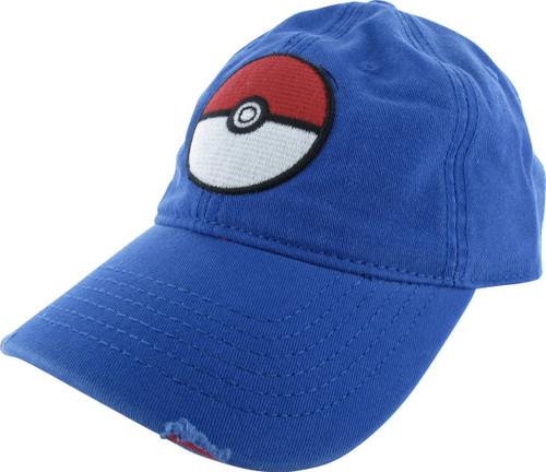 Pokemon Pokeball Buckle Distressed Hat