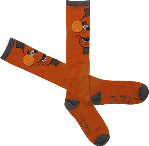e5863d60f87 Five Nights at Freddy s Fazbear Knee High Socks