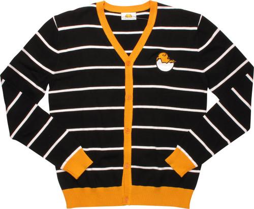 Gudetama Shell Striped Cardigan Sweater
