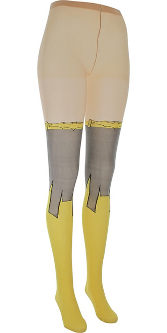Batgirl Suit Logo Footed Tights