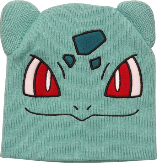 Pokemon Bulbasaur Face Beanie