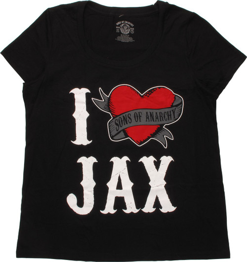 Sons of Anarchy I Heart Jax Ladies T-Shirt