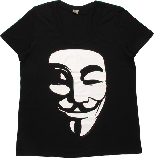V for Vendetta White Mask Ladies T-Shirt