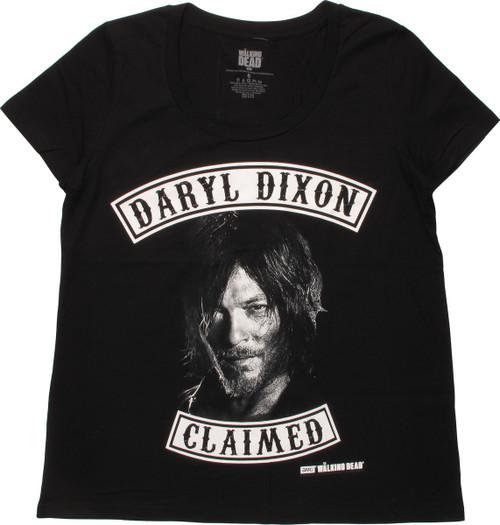 Walking Dead Daryl Dixon Claimed Ladies T-Shirt