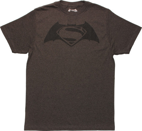 Batman v Superman Logo Heathered Charcoal T-Shirt