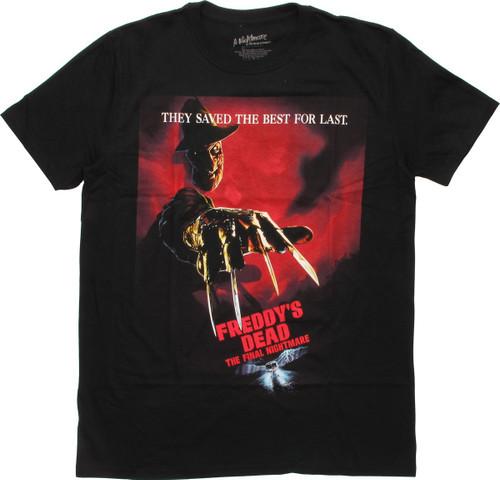 Freddy's Dead Final Nightmare Movie Poster T-Shirt