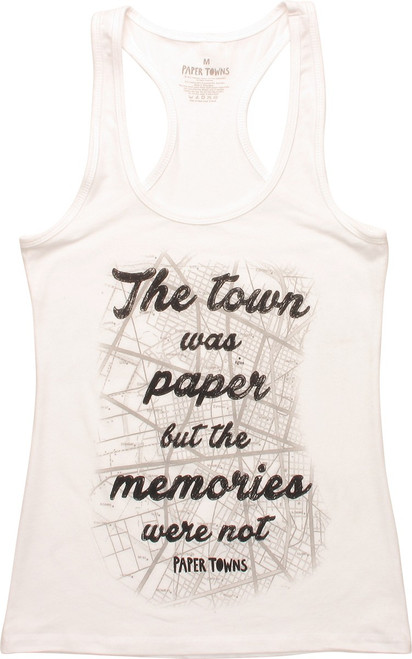 Paper Towns The Town Was Paper Junior Tank Top