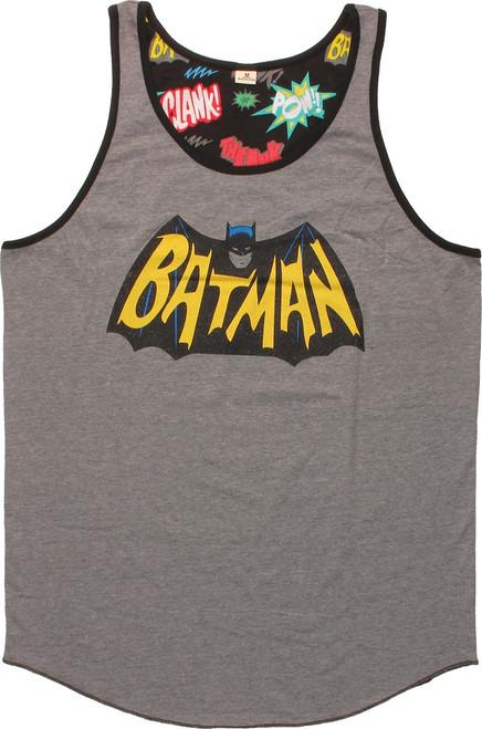 Batman TV Logo Vintage Ringer Tank Top