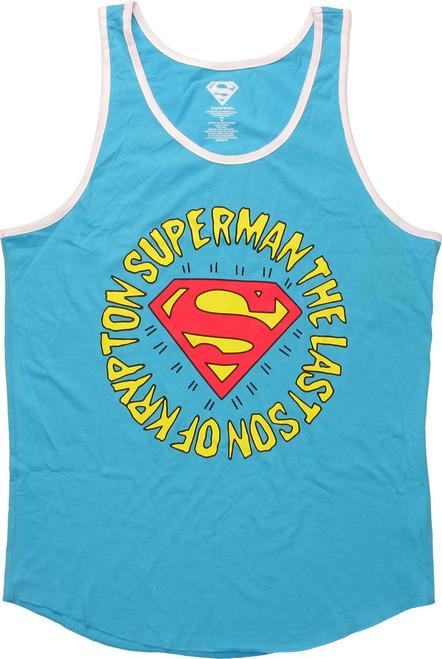 Superman Last Son Of Krypton Ringer Tank Top