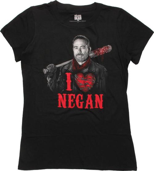 Walking Dead I Heart Negan Juniors T-Shirt
