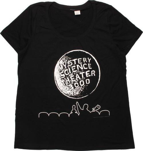 MST3K Theater Moon Logo Ladies T-Shirt