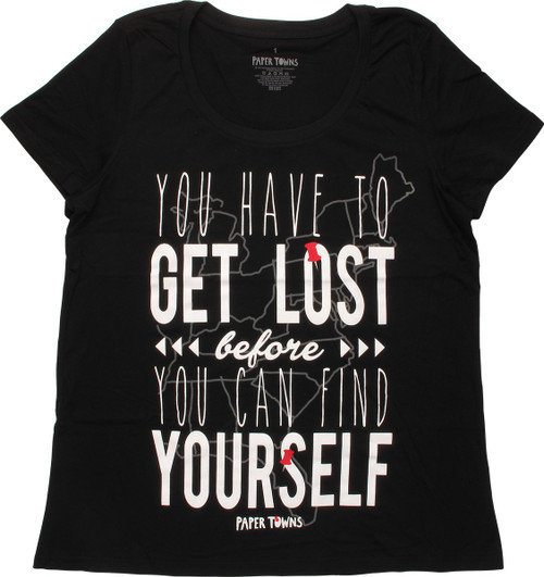 Paper Towns You Can Find Yourself Ladies T-Shirt