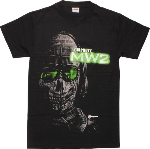 Call of Duty MW2 Ghost Close Up T-Shirt