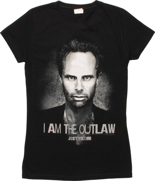 Justified Boyd I Am The Outlaw Juniors T-Shirt