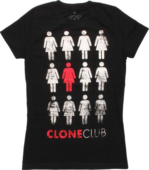 Orphan Black Clone Club Distressed Juniors T-Shirt
