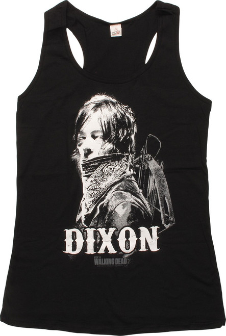 Walking Dead Bandana Dixon Womens Junior Tank Top
