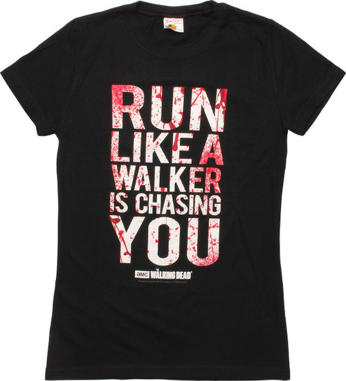 Walking Dead Run Like A Walker Junior T-Shirt
