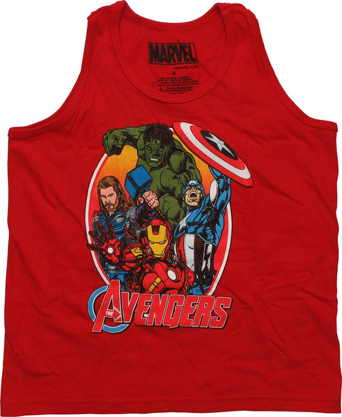 Avengers Oval Frame Tank Top Juvenile T-Shirt