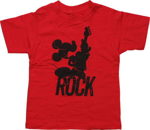Mickey Mouse Rock Silhouette Toddler T-Shirt