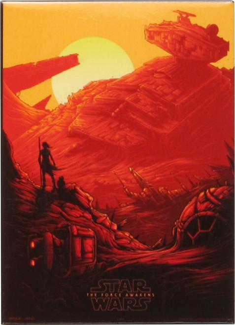 Star Wars TFA Rey Star Destroyer Crash Tile Magnet