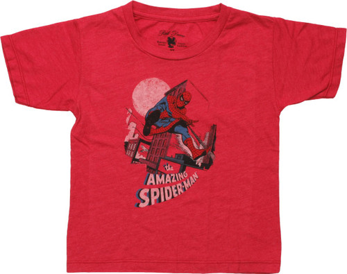Amazing Spiderman City Swinging Toddler T-Shirt