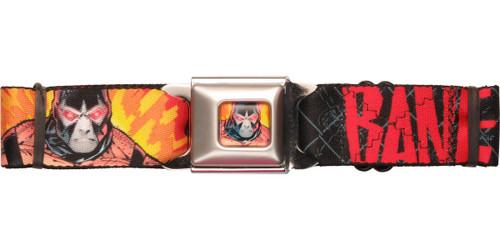 Bane Name Fiery Links Seatbelt Belt