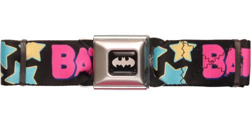 Batgirl Name Stars Seatbelt Belt