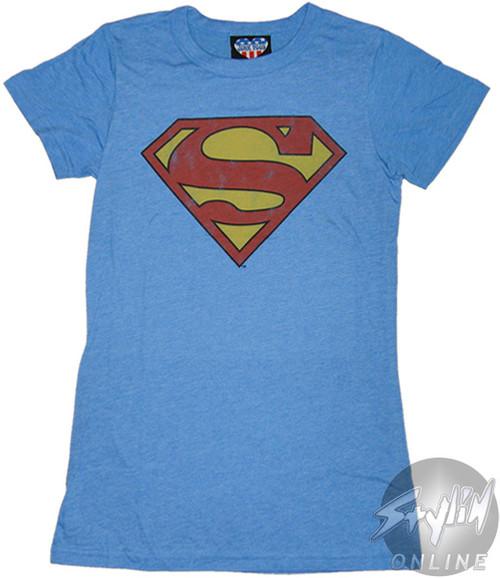 Superman Distressed Logo Baby Tee
