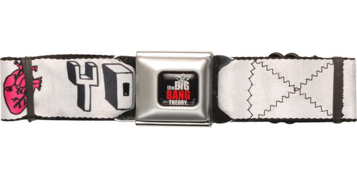 Big Bang Theory I Love Your Brain Seatbelt Belt