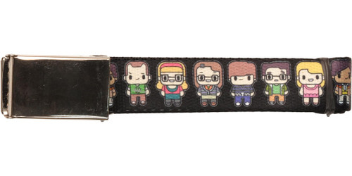 Big Bang Theory Toon Cast Mesh Belt