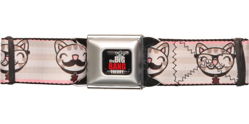 Big Bang Theory Soft Kitty Stache Seatbelt Belt